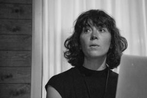 "Talk: Johanna Steindorf ""The Strange Half-absence of Wandering at Night"". Photo: Zane Cerpina."