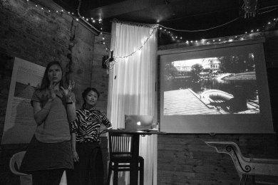 "Talk: Naja Lee Jensen ""Og Stier Leder Oss / And Paths Lead Us"". Photo: Zane Cerpina."