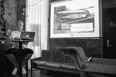 "Talk: Marius Presterud / Oslo Apiary & Aviary ""Walking and nation building"". Photo: Zane Cerpina."