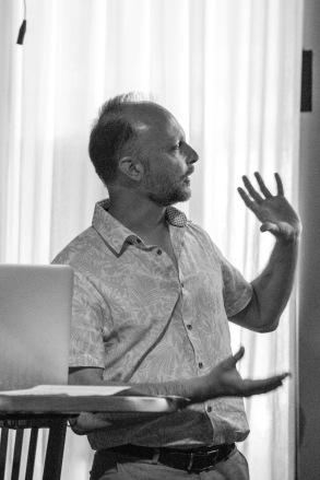 "Talk: Sebastian Messer ""An Incomplete Taxonomy of Urban Archetypes"". Photo: Zane Cerpina. Photo: Zane Cerpina."