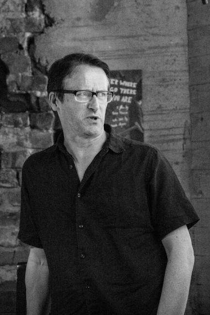 """Talk: Conor McGarrigle """"The Flaneur in the Smart City"""". Photo: Zane Cerpina."""