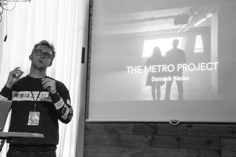 "Talk: Dominik Blasko ""The Metro Project"". Photo: Zane Cerpina."