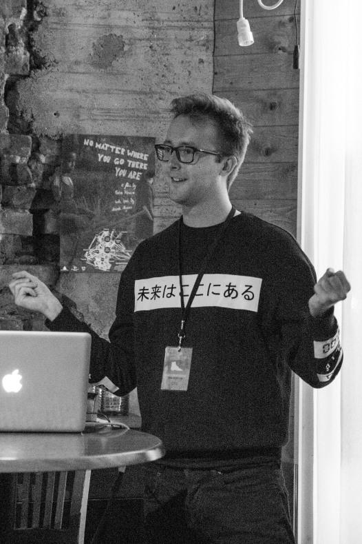 "Talk: Dominik Blasko ""The Metro Project"". Photo: Zane Cerpina."