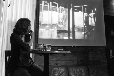 "Talk: Stephanie Felber ""Urban Wanderer"". Photo: Zane Cerpina."