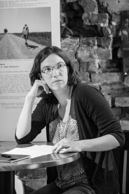 "Talk: Stephanie Felber ""Urban Wanderer"". Photo: Zane Cerpina."