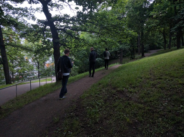 "Audio Walk ""The Strange Half-absence of Wandering at Night"" by Johanna Steindorf. Photo: Zane Cerpina."